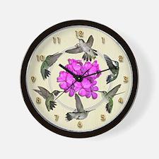 Flying Jewels Wall Clock