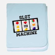 Slot Machine Tilt baby blanket