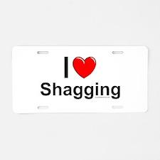 Shagging Aluminum License Plate