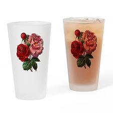 Vintage Rose Drinking Glass