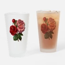Vintage Rose Drinking Glass