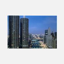 Chicago River Rectangle Magnet