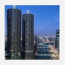 Chicago River Tile Coaster