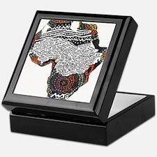 Beaded Africa Keepsake Box