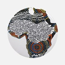 Beaded Africa Ornament (Round)