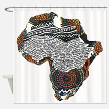 Beaded Africa Shower Curtain