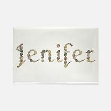 Jenifer Seashells Rectangle Magnet