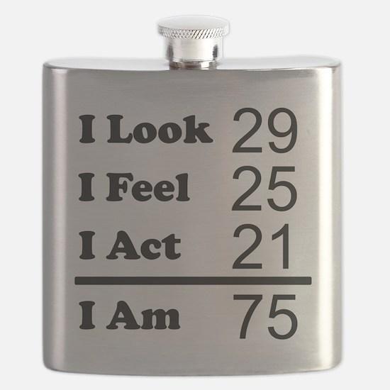 I Am 75 Flask