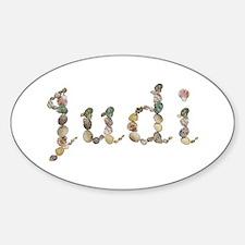 Judi Seashells Oval Decal