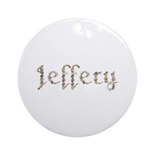 Jeffery Seashells Round Ornament
