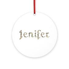 Jenifer Seashells Round Ornament