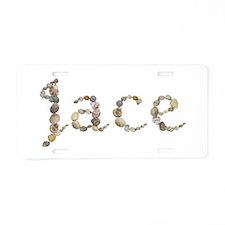 Jace Seashells Aluminum License Plate