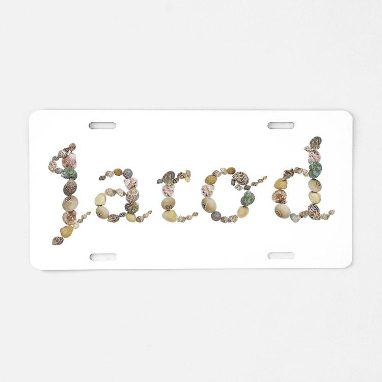 Jarod Seashells Aluminum License Plate