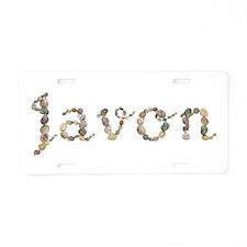 Javon Seashells Aluminum License Plate