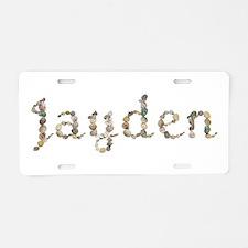 Jayden Seashells Aluminum License Plate