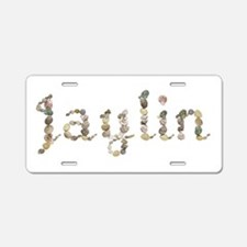 Jaylin Seashells Aluminum License Plate