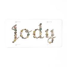 Jody Seashells Aluminum License Plate