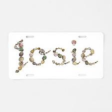 Josie Seashells Aluminum License Plate