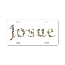 Josue Seashells Aluminum License Plate