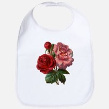 Vintage Roses in Red and Pink Bib
