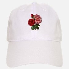 Vintage Roses in Red and Pink Baseball Baseball Cap