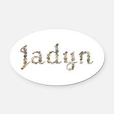 Jadyn Seashells Oval Car Magnet