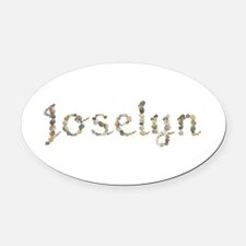 Joselyn Seashells Oval Car Magnet