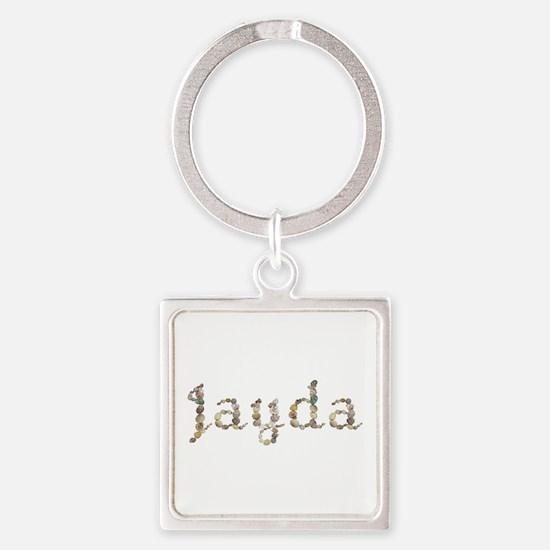 Jayda Seashells Square Keychain