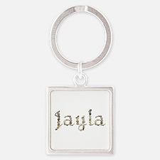 Jayla Seashells Square Keychain