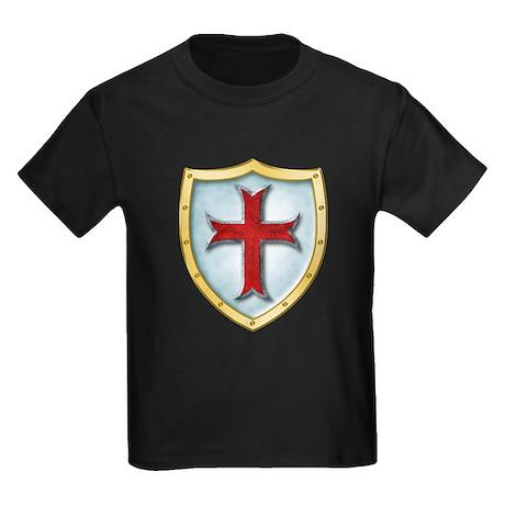 Templar Shield Kids Dark T-Shirt