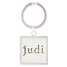 Judi Seashells Square Keychain