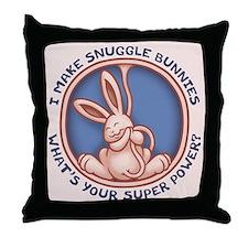 I Make Snuggle Bunnies Throw Pillow