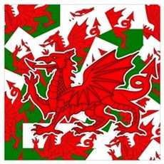Welsh Dragon - Draig Poster