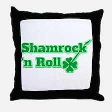 Shamrock 'n Roll Throw Pillow