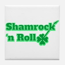Shamrock 'n Roll Tile Coaster
