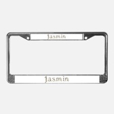 Jasmin Seashells License Plate Frame