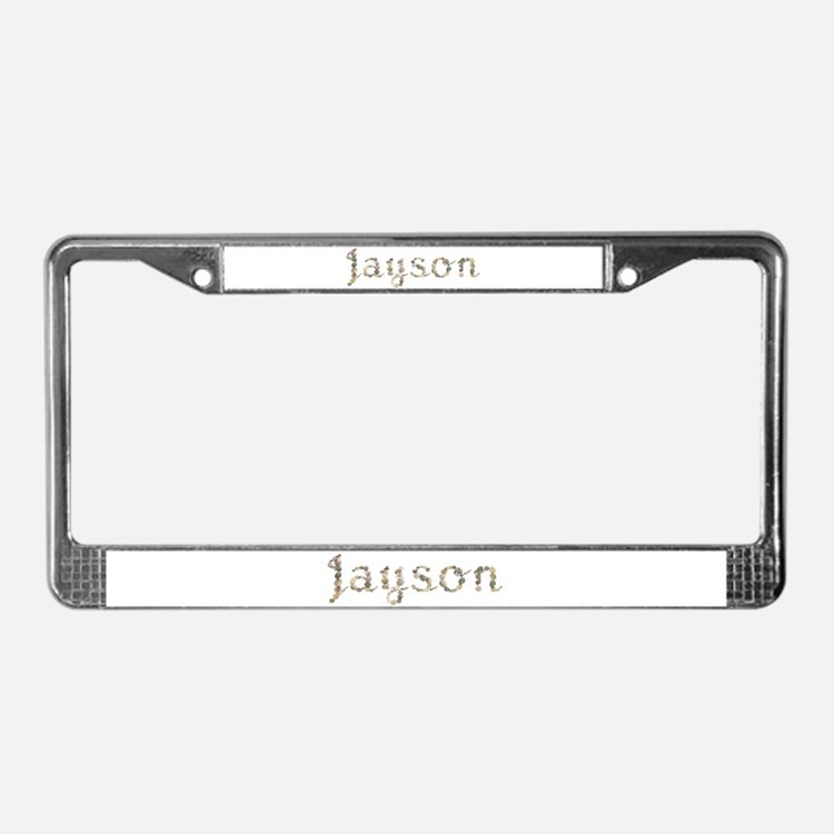 Jayson Seashells License Plate Frame