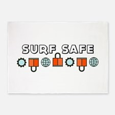 Surf Safe 5'x7'Area Rug