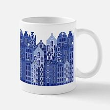 Amsterdam Houses In Blue Mug