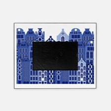 Amsterdam Houses In Blue Picture Frame