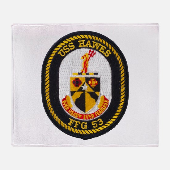 USS HAWES Throw Blanket
