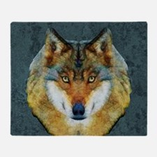Cute Abstract wolf Throw Blanket
