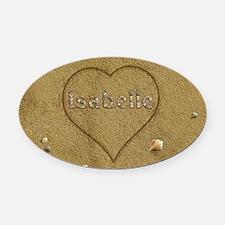 Isabelle Beach Love Oval Car Magnet