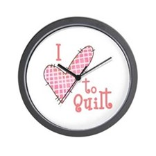 I LOVE TO QUILT Wall Clock