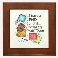 PHD IN QUILTING Framed Tile