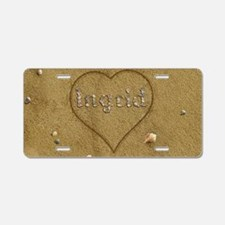Ingrid Beach Love Aluminum License Plate