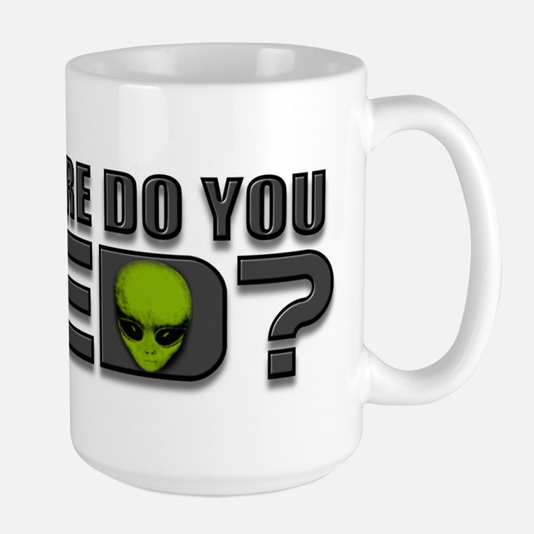 Aliens, Science Fiction Large Mug