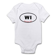 WI Euro Oval Sticker Gifts Infant Bodysuit
