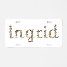 Ingrid Seashells Aluminum License Plate