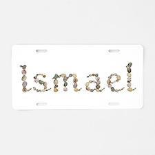 Ismael Seashells Aluminum License Plate